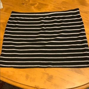 Black and Gray striped mini skirt
